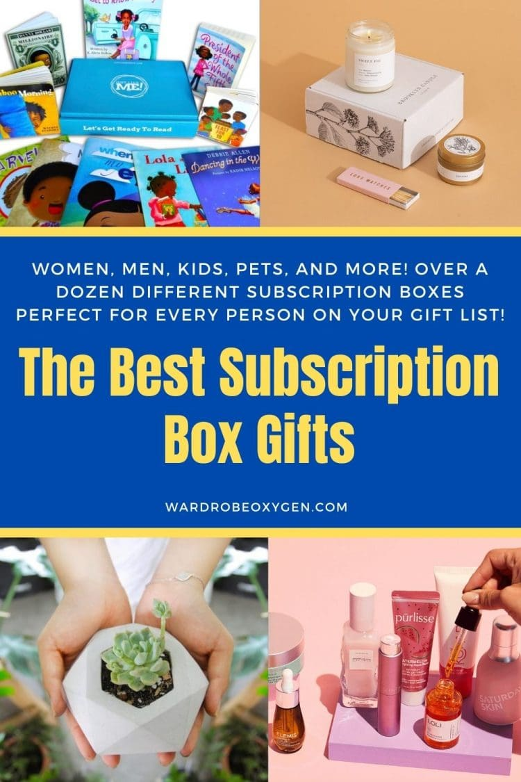 The Best Subscription Box Gifts: over 12 different subscription boxes for women, men, kids, and pets