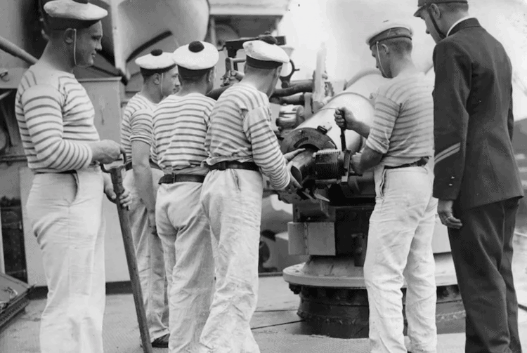 french sailors wearing breton shirts