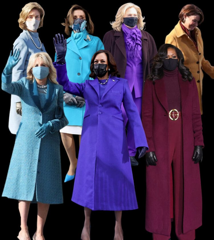 jewel tones worn at the presidential inauguration 2021