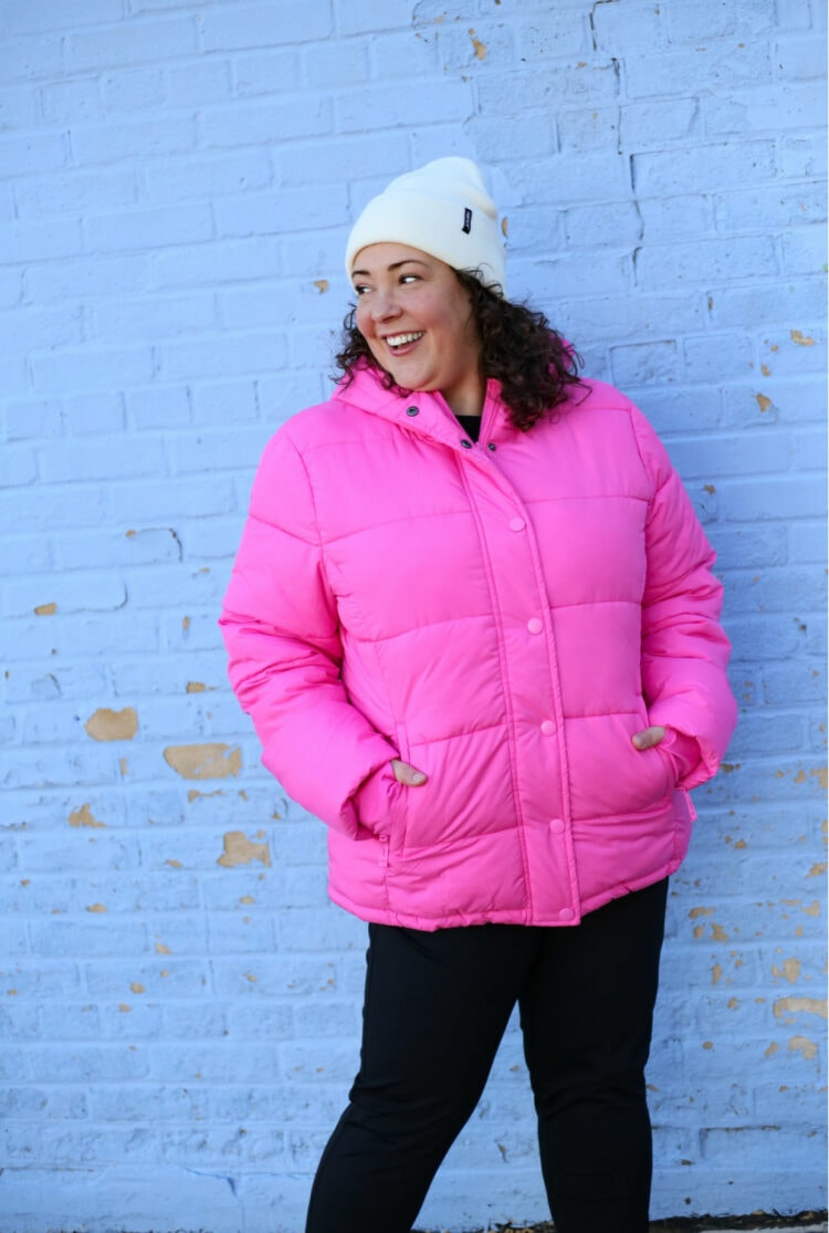 pink coat under 50