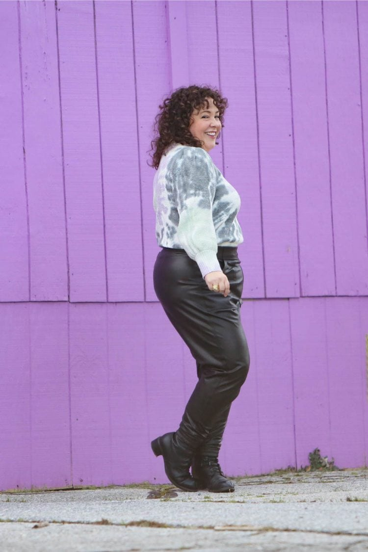 spanx faux leather joggers petite 3