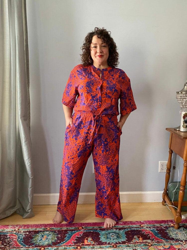 the kit nyc issa jumpsuit orange