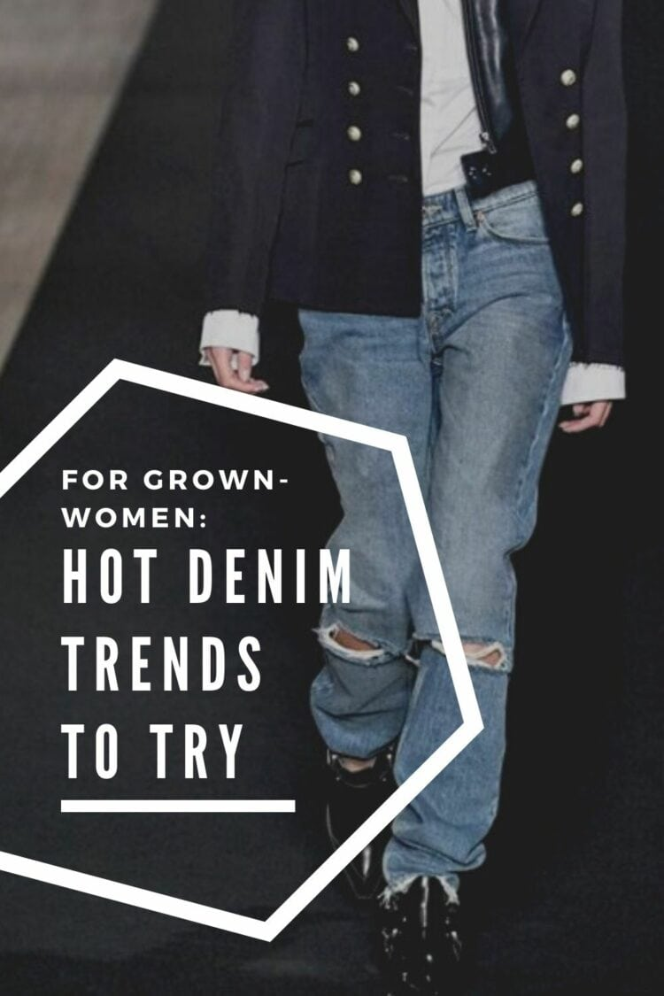 what are the hot denim trends to try? This image suggests this post has ideas