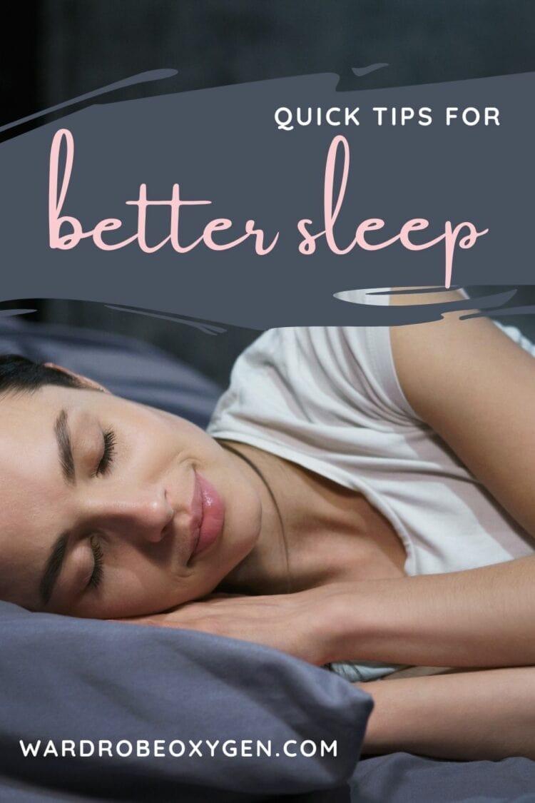 quick tips for better sleep