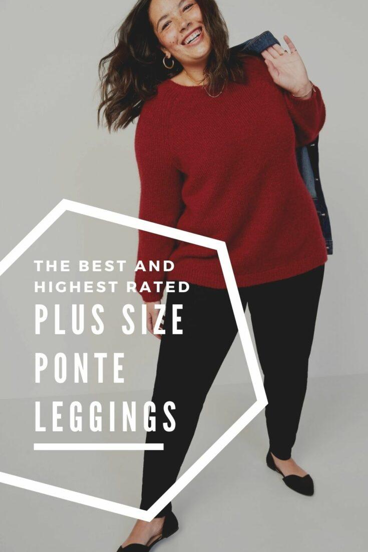 the best plus size ponte leggings