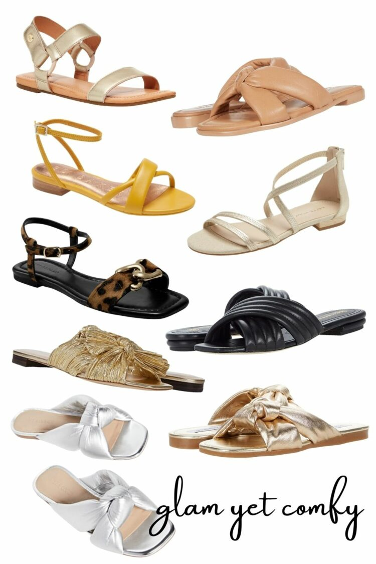 chic yet comfy sandals for spring