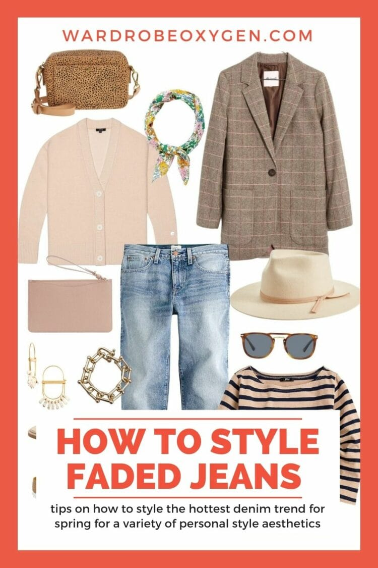 how to style faded jeans for spring by wardrobe oxygen