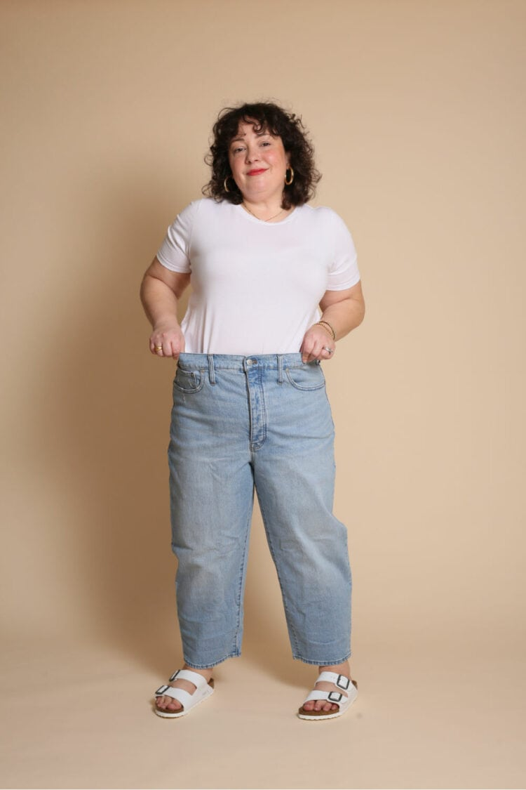 madewell balloon jean review size 14