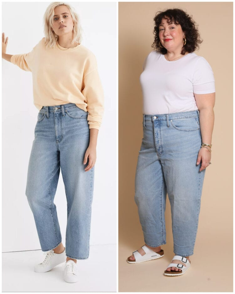madewell vs me balloon jean