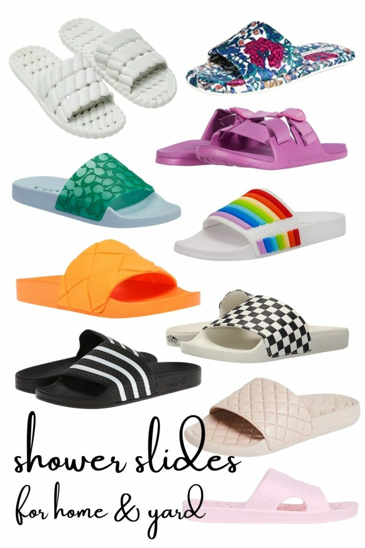 shower slides fashion trend