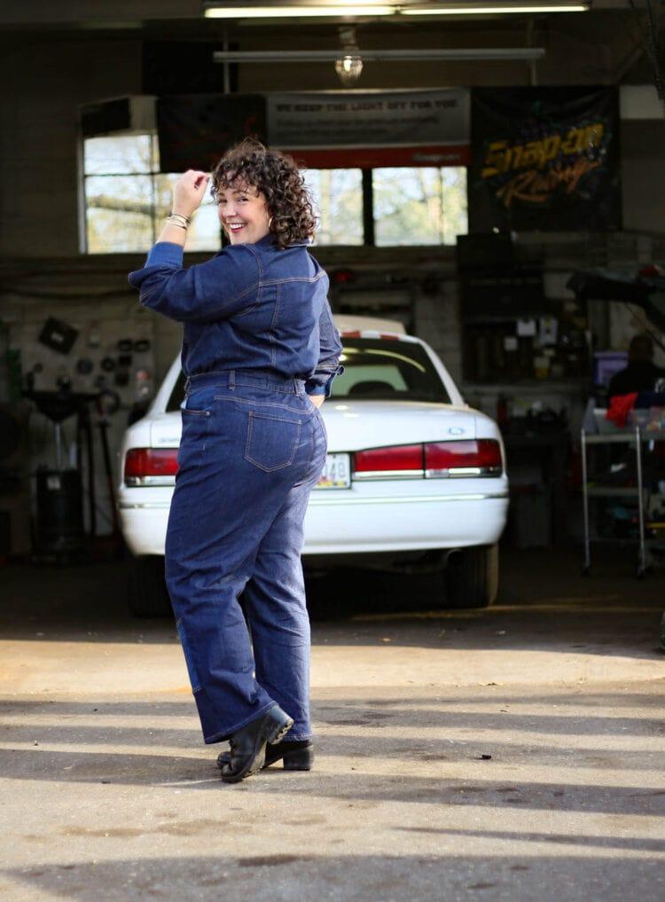 ERDEM x Universal Standard Review Myrtle Denim Jumpsuit Wardrobe Oxygen 14