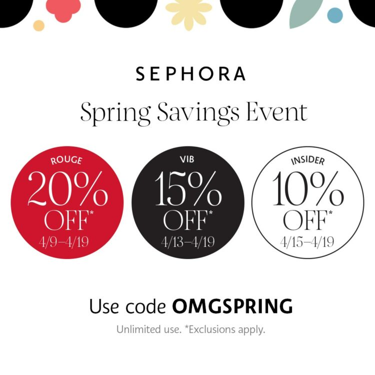 Sephora 2021 Spring Savings Event 1