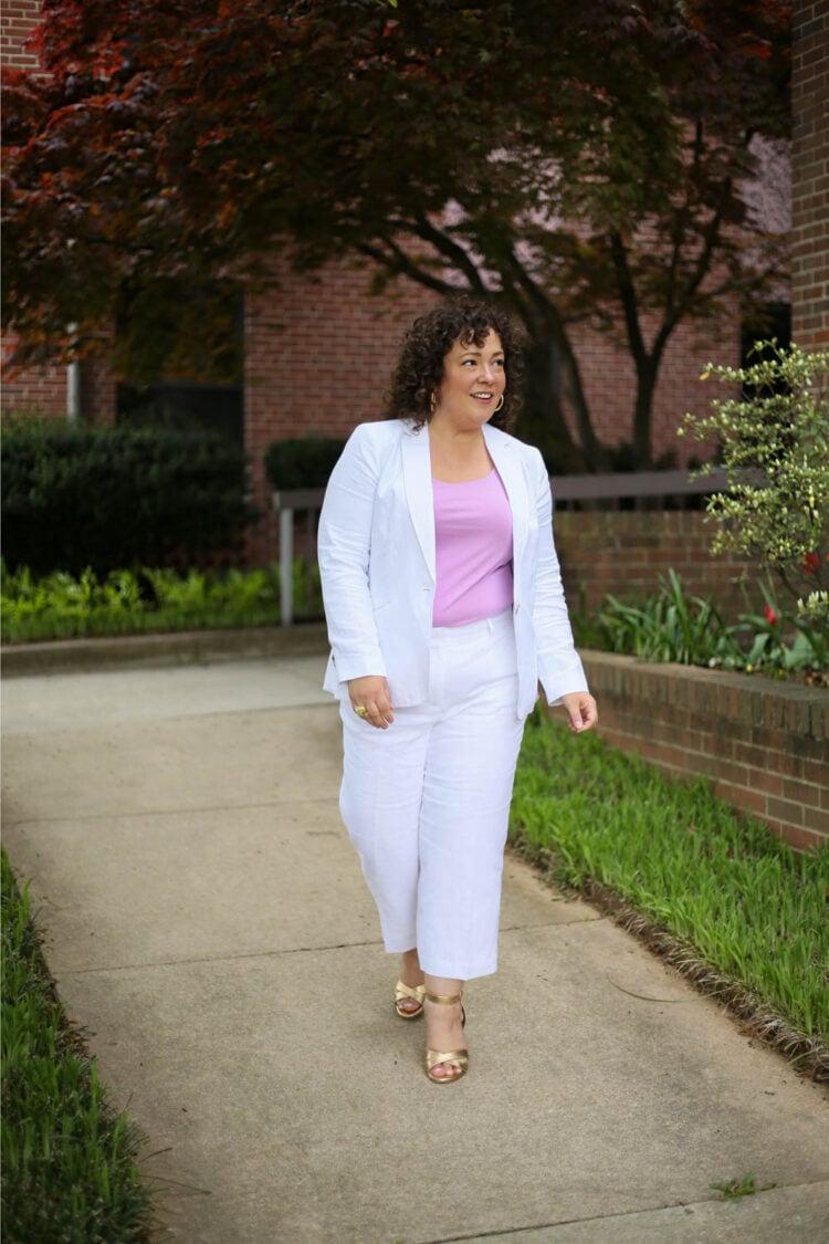 TALBOTS linen suit review 5