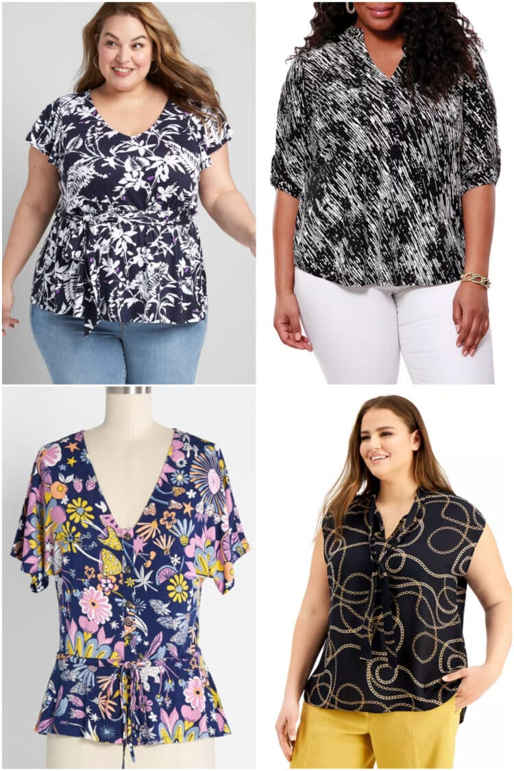 best plus size tops to hide a belly