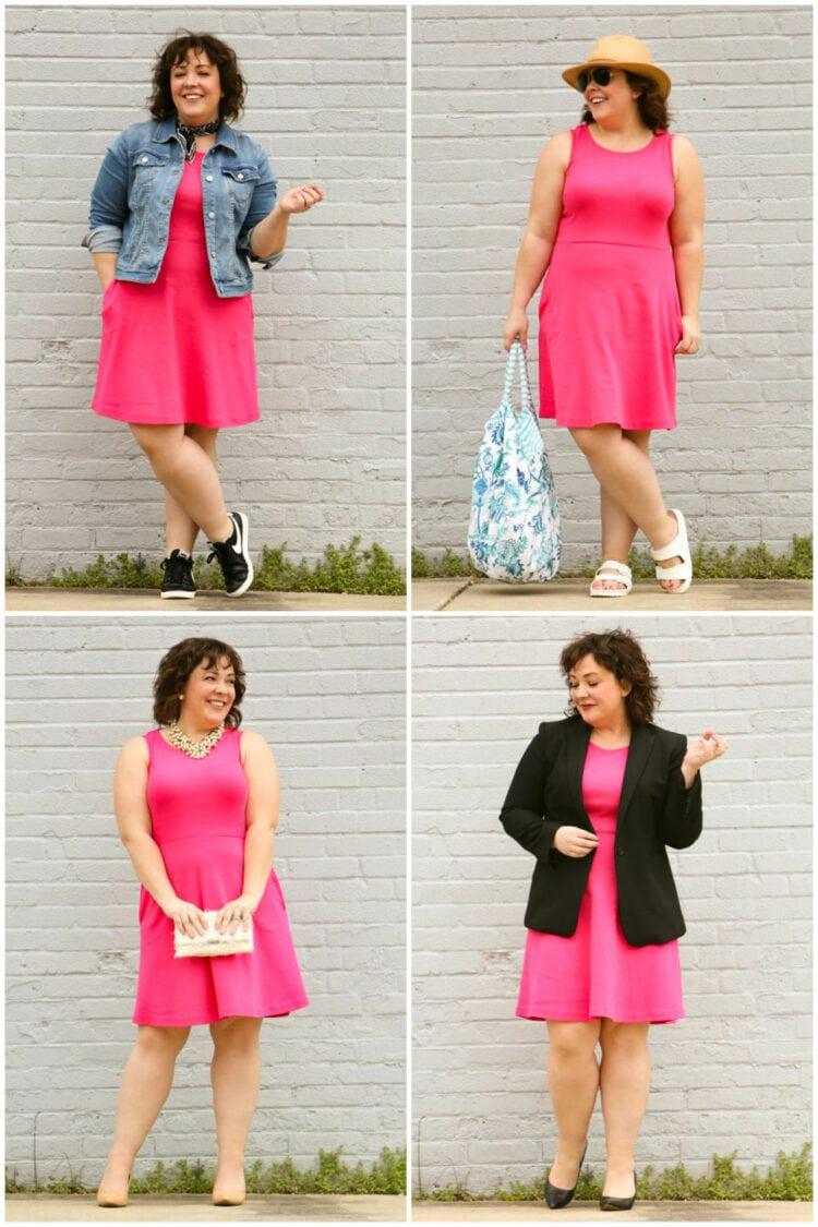 one dress four ways by wardrobe oxygen