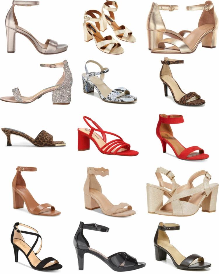stylish wide width heels