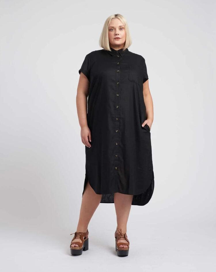 universal standard dune linen dress review