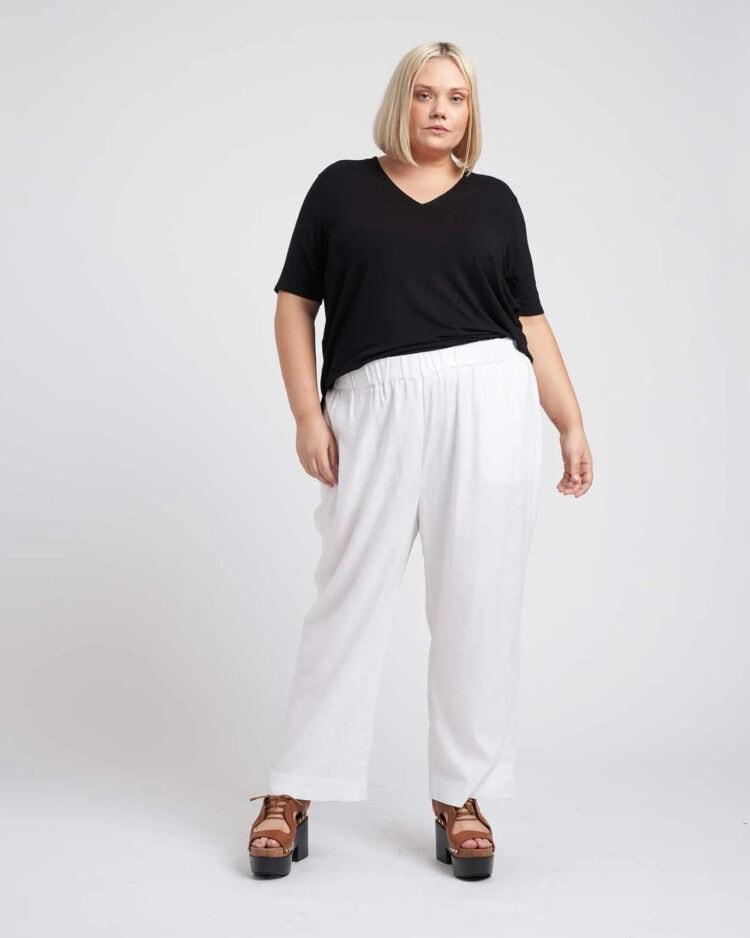 universal standard iris linen pants review