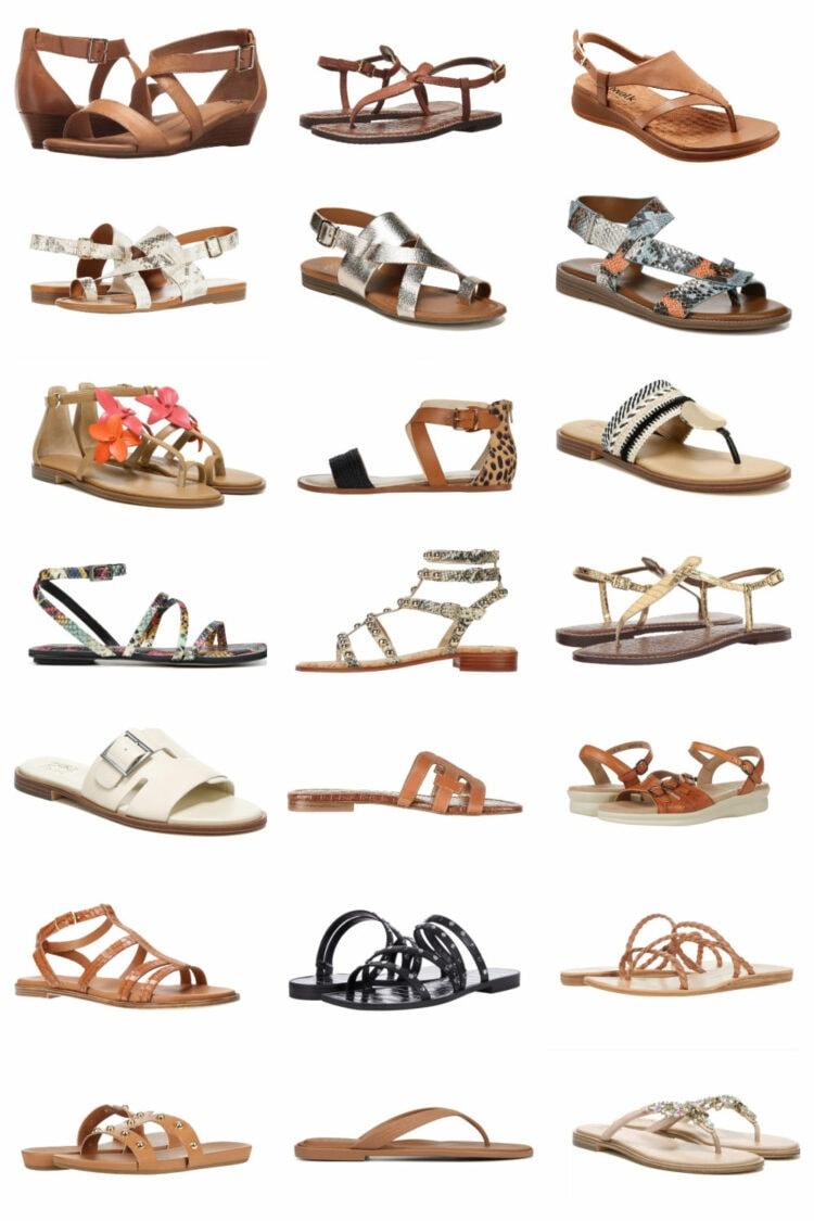 wide width flat sandals