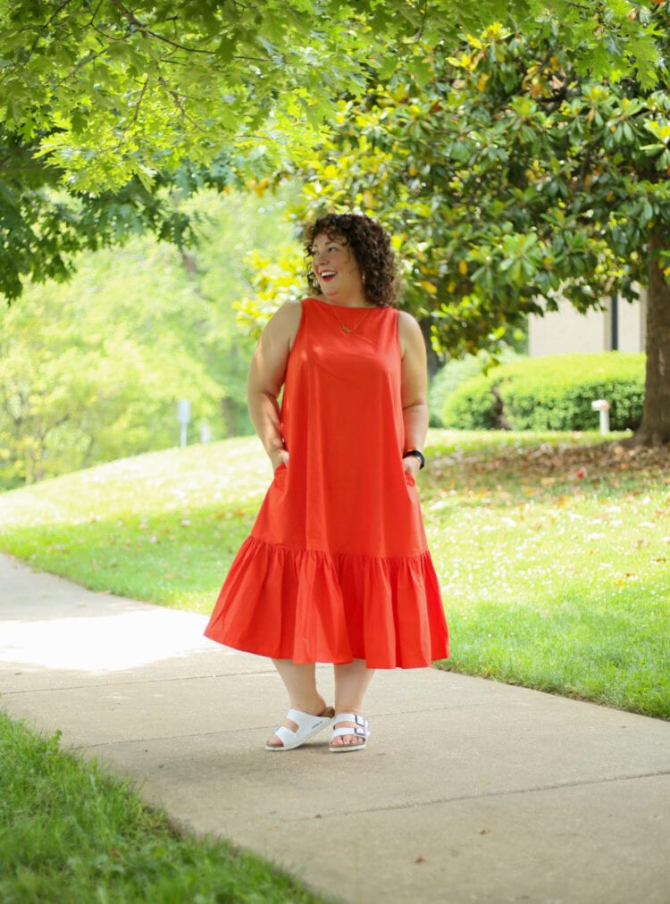 Christopher John Rogers for Target Orange Shift Dress