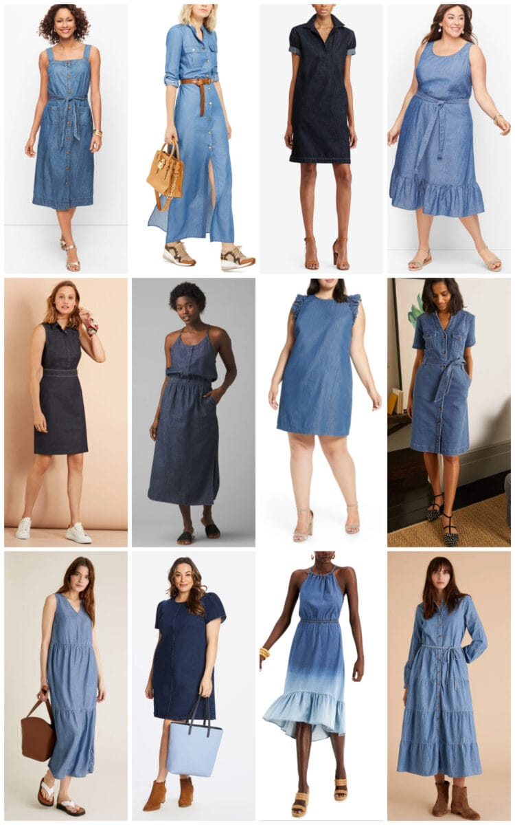 best denim dresses for summer