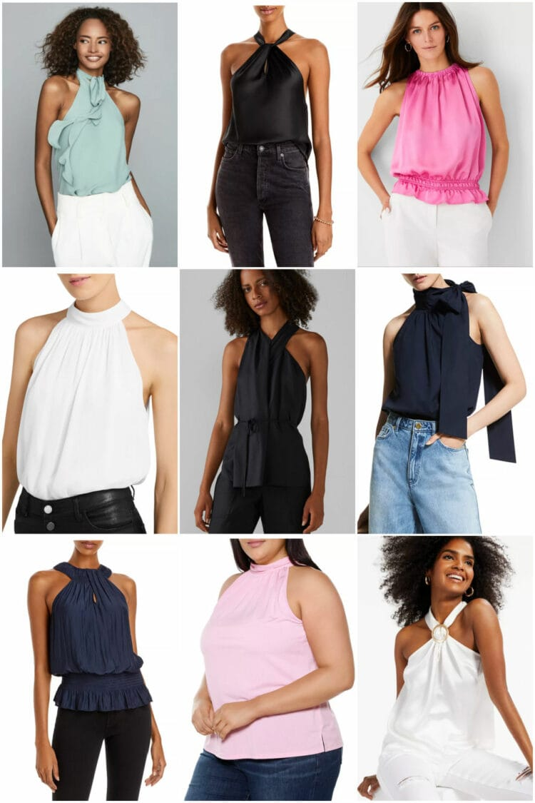 going out tops for grown women halter