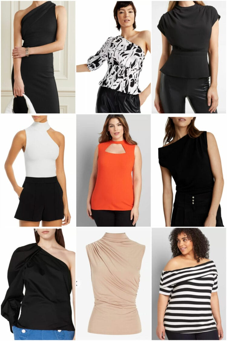 going out tops for grown women look for architectural details
