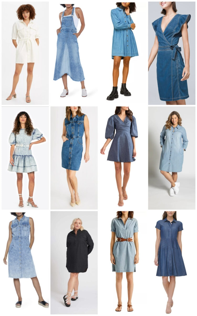 modern denim dresses summer