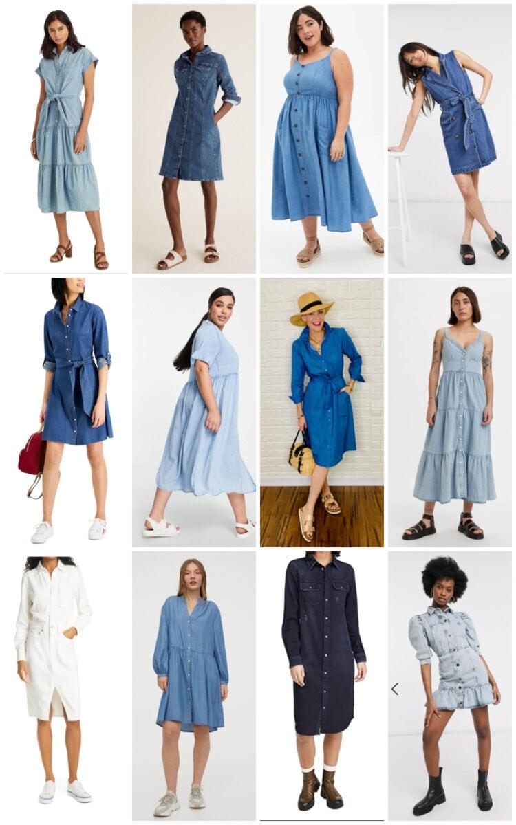 summer denim dress trend