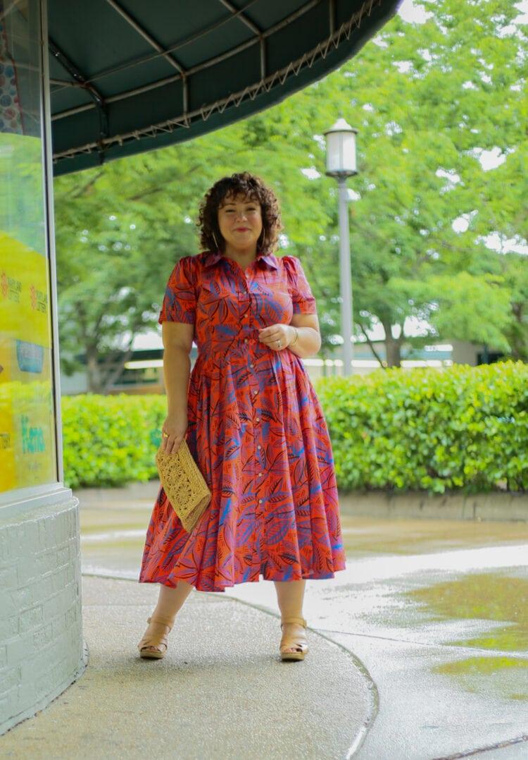 ALEXIS for Target Tropical Leaf Short Sleeve Shirtdress - Wardrobe ...
