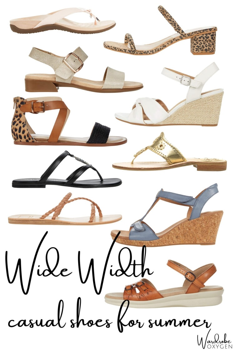 wide width sandals for summer