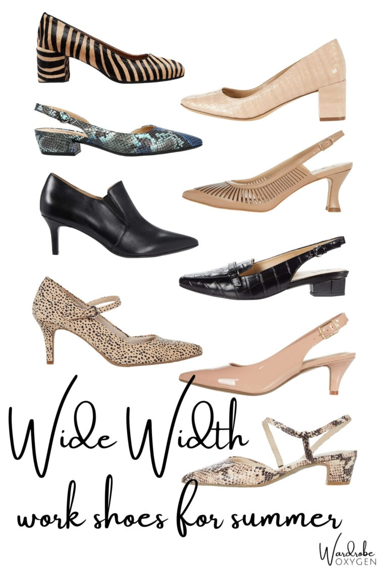 wide width work shoes for women