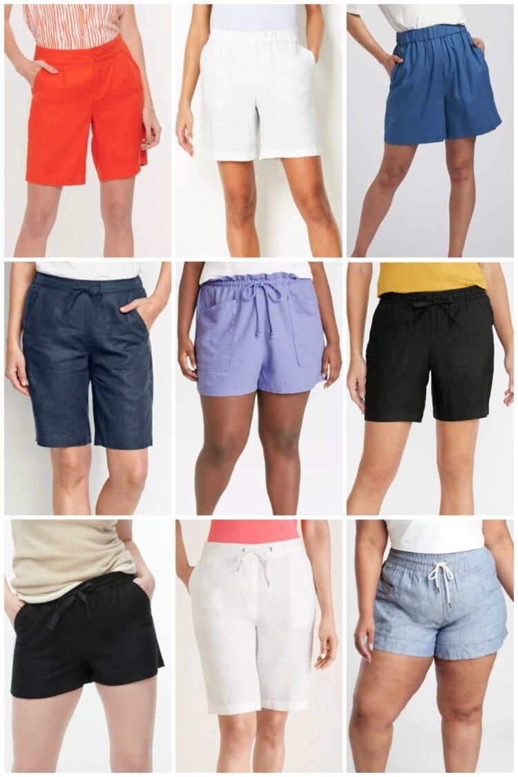 best linen shorts for women