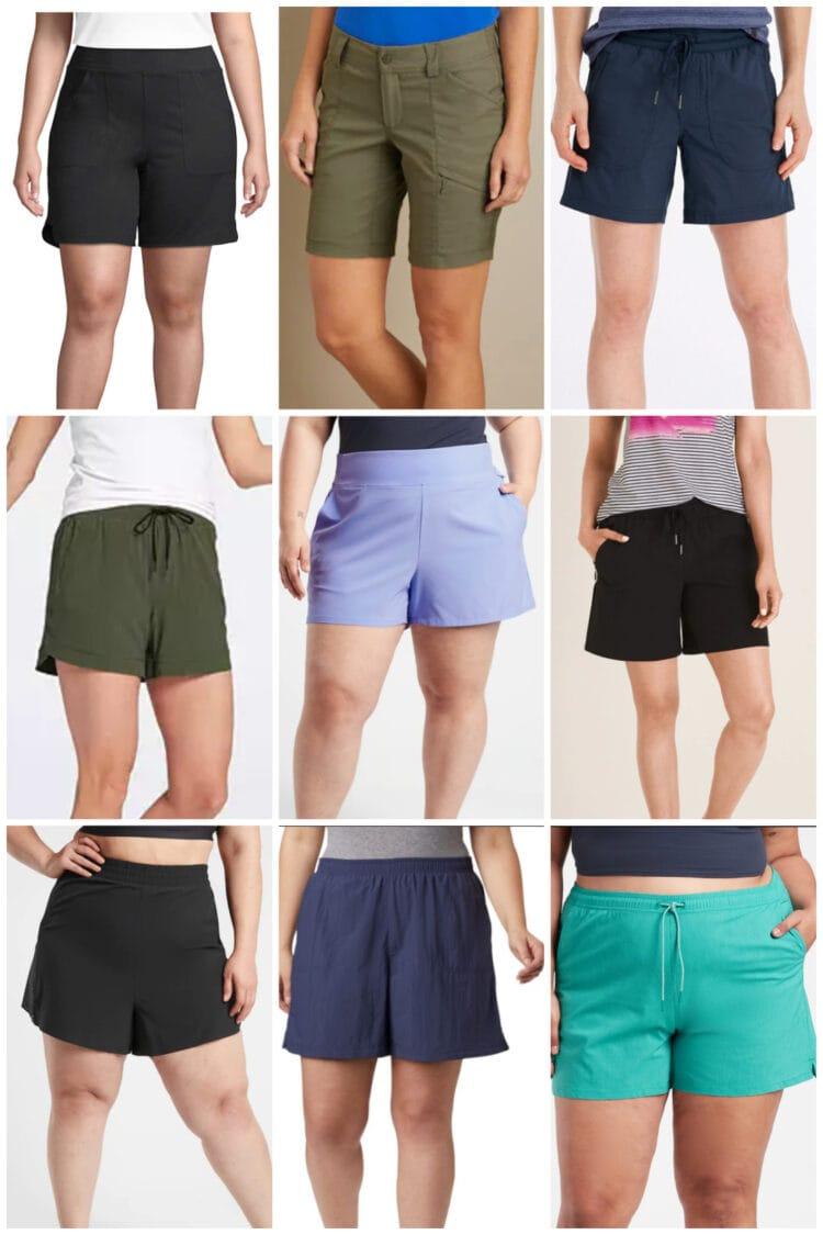 best size inclusive active shorts