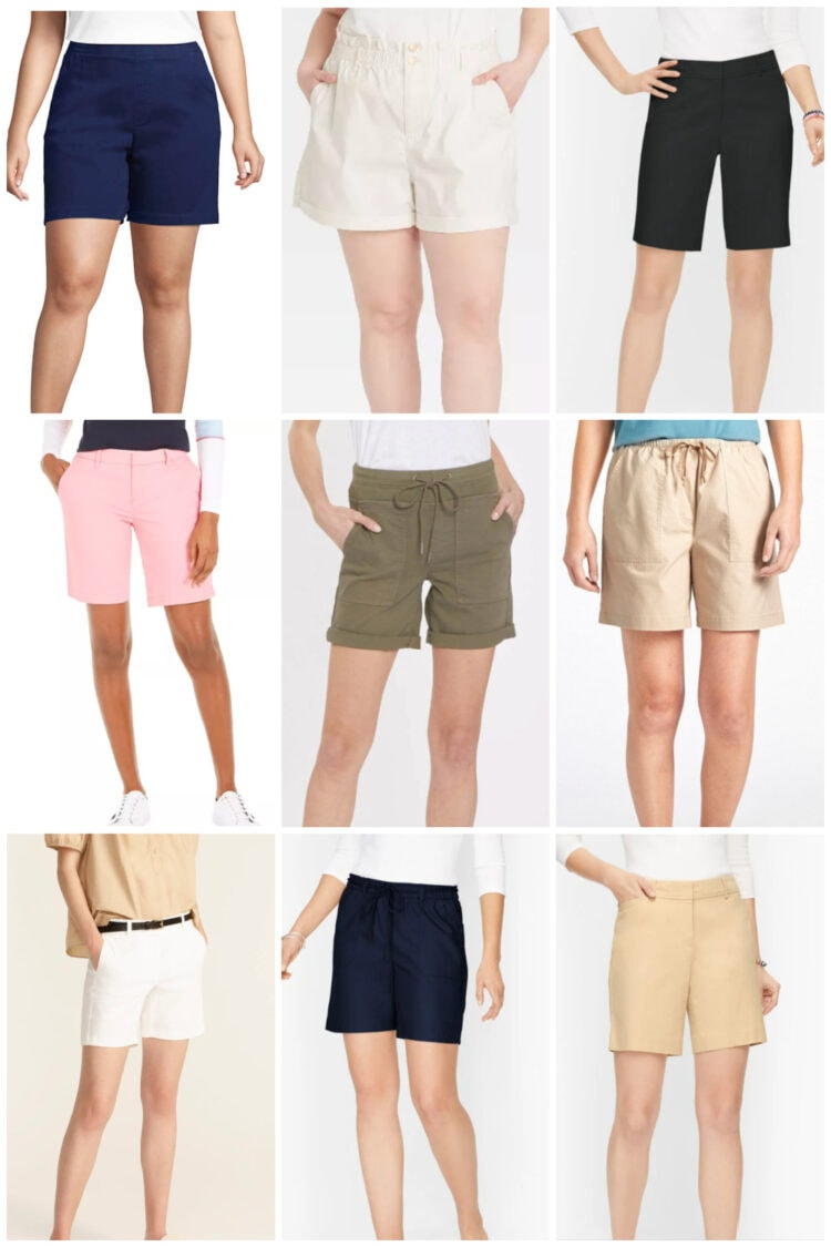 best twill shorts for women
