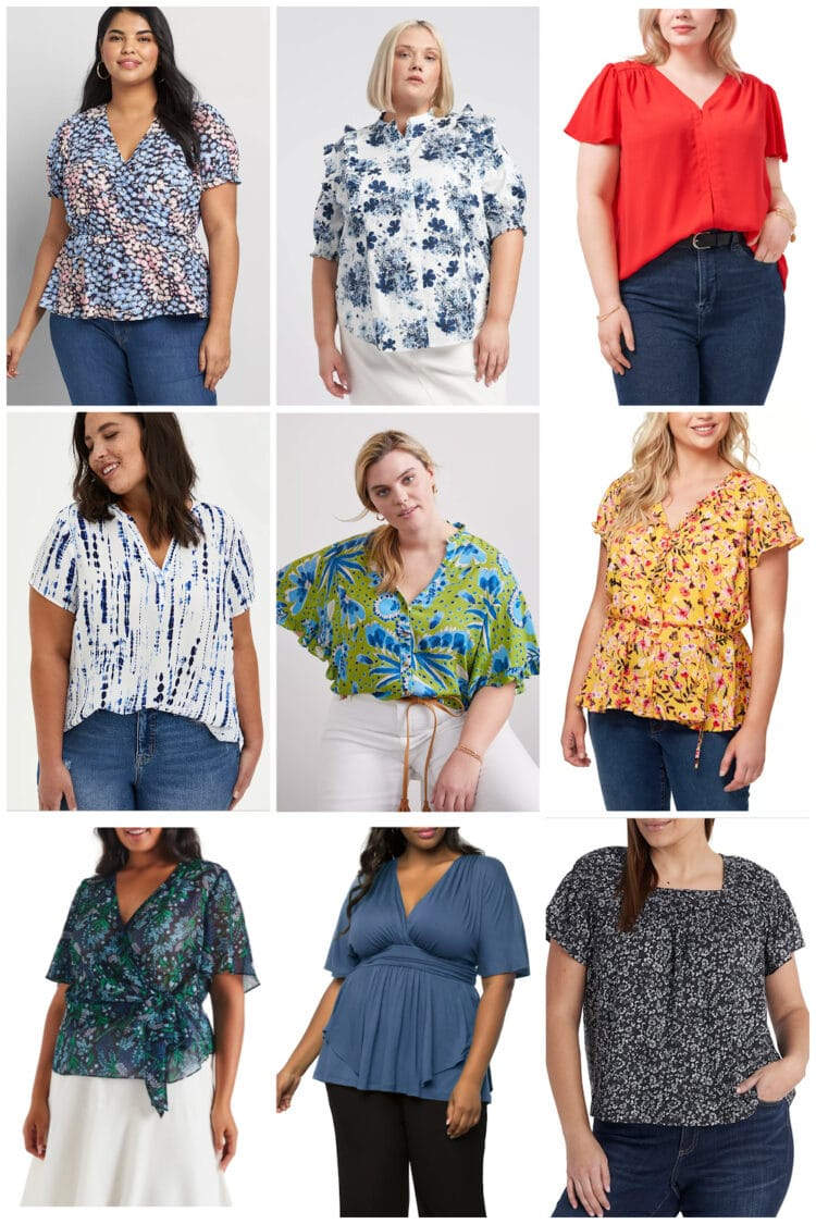 plus size short sleeved tops for summer 1