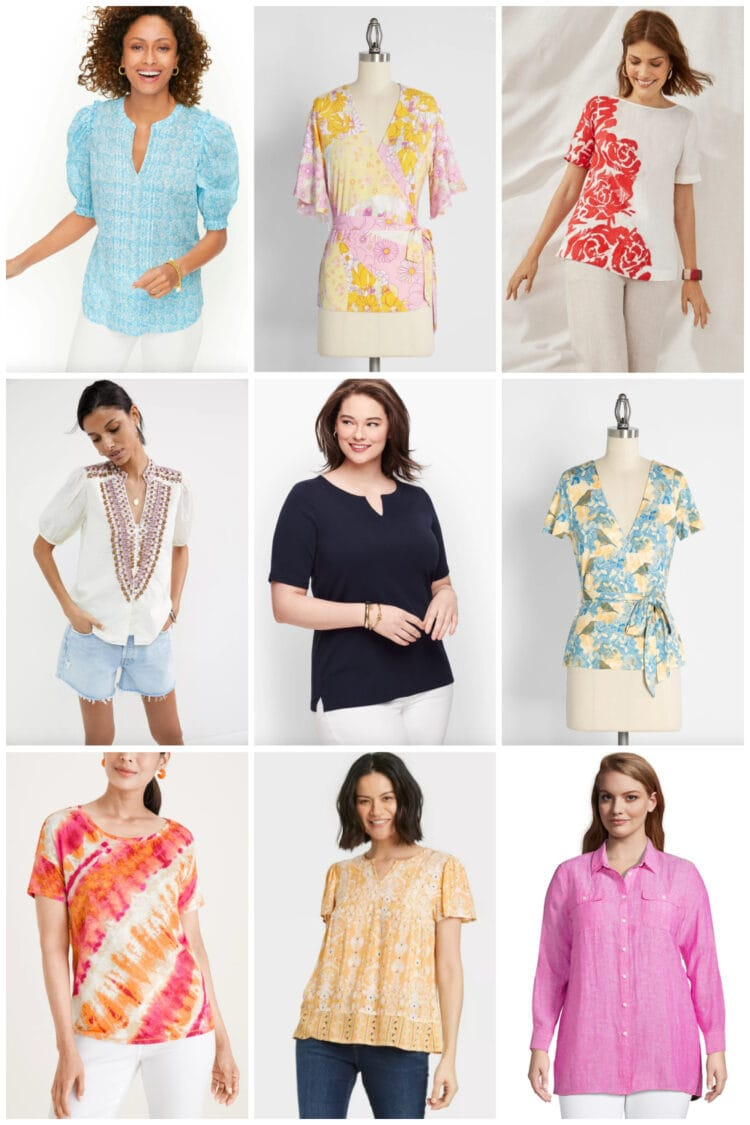 plus size short sleeved tops for summer