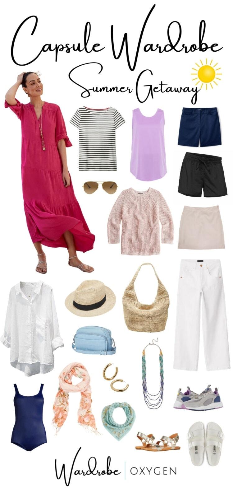 summer getaway capsule wardrobe by Wardrobe Oxygen