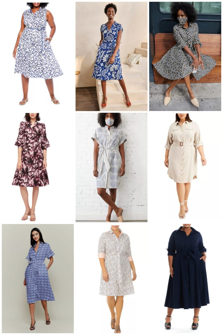 shirtdresses are a great choice for summer work dresses. They look professional and keep you cool.