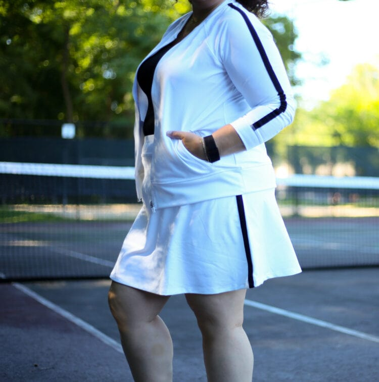 The Talbots On the Move skort in white as seen on Alison of Wardrobe Oxygen