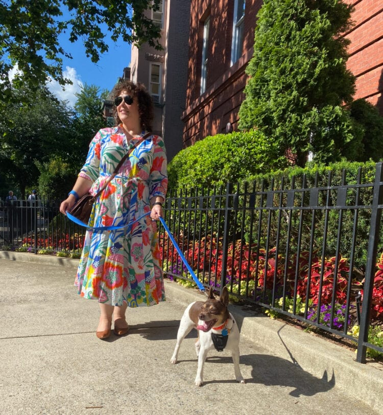 what I wore this weekend in DC featuring a cotton shirtdress from Boden in a bright floral print.