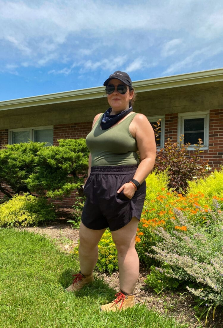 The best size-inclusive active shorts: the Universal Standard Sunny shorts