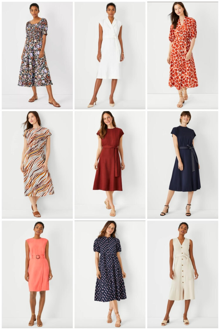 work friendly dresses from Ann Taylor