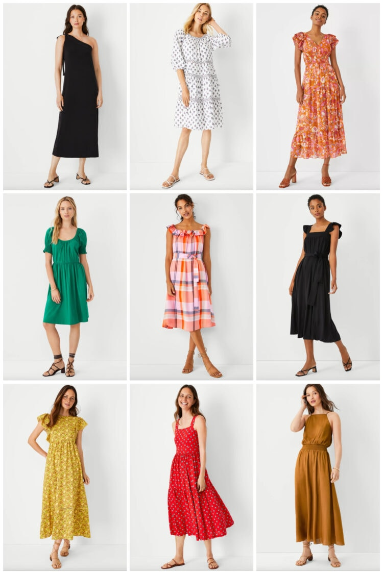 summer dresses from Ann Taylor