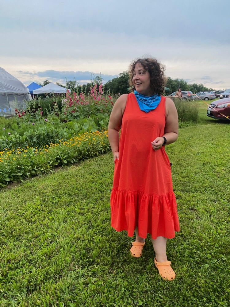 christopher john rogers for target orange dress