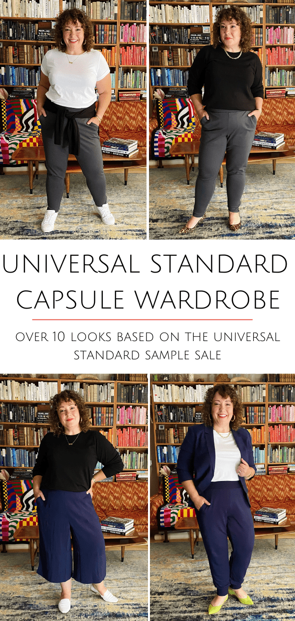 Universal Standard Capsule Wardrobe based on the Universal Standard Sample Sale, created by Alison at Wardrobe Oxygen