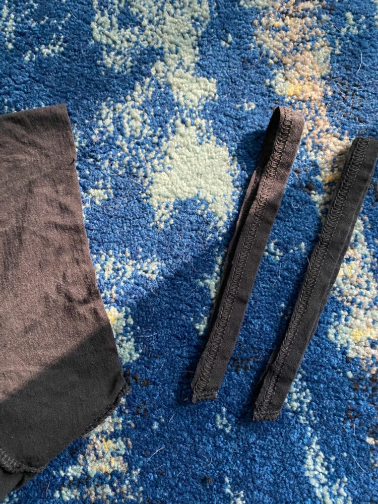 how to cut a t shirt sleeve