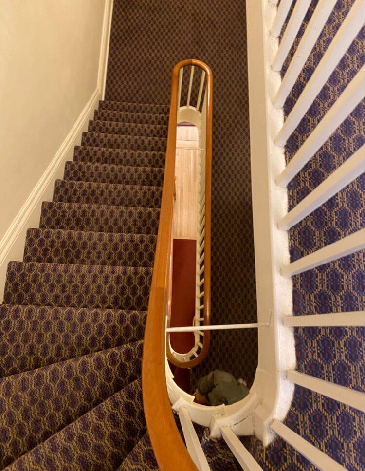 stairs of the salem inn