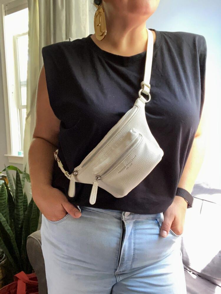 brandon blackwood belt bag review by wardrobe oxygen