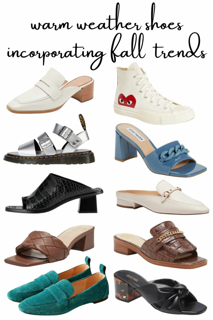 fall shoe trends for warm climates
